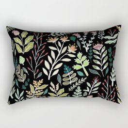 Dark Botanic Rectangular Pillow
