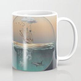 Light bulb with ship Coffee Mug