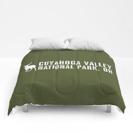 Deer: Cuyahoga Valley, Ohio Comforters