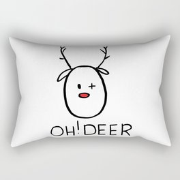 Oh! Deer with red nose and wink Rectangular Pillow