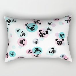 Fizzy Pugs Rectangular Pillow
