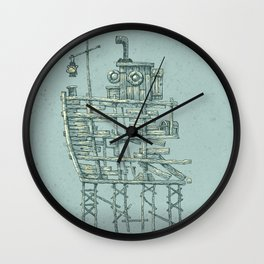 my ship in the port Wall Clock