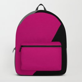 Geometric design in hot pink grey & black Backpack