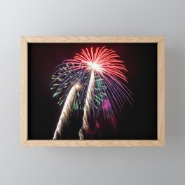 Palm Trees or Fireworks Framed Mini Art Print