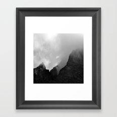 Fog on the mountains### Framed Art Print