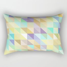 Colorful Triangles 2 Rectangular Pillow