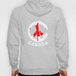 Canada Peace Sign Tshirt Hoody