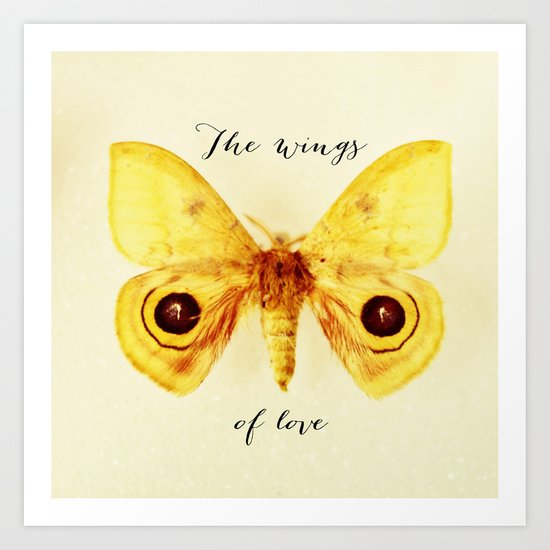 the wings of love Art Print