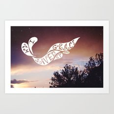 By grace alone Art Print