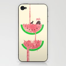 watermelon falls iPhone & iPod Skin