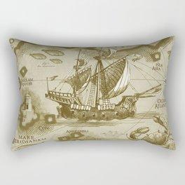 Insula Antillia Rectangular Pillow