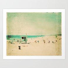 Nostalgia. Hermosa Beach photograph Art Print