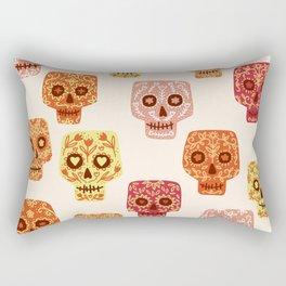 Dia de los Muertos Mexican Decorated Skull Art Rectangular Pillow