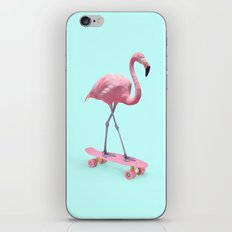 SKATE FLAMINGO iPhone & iPod Skin