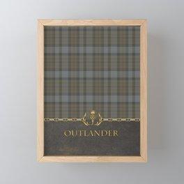 OUTLANDER TARTAN LEATHER Framed Mini Art Print