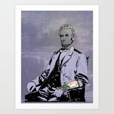 Inked Lincoln Art Print