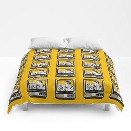 HOMEMADE YELLOW CLASSIC TV PATTERN Comforters