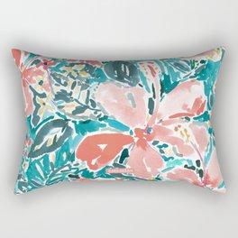 HELLO HIBISCUS - CORAL Rectangular Pillow