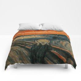 The Scream by Edvard Munch, circa 1893 Comforters