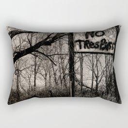 NO Trespass Rectangular Pillow