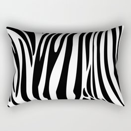 Zebra trendy design artwork animal exotic pattern Rectangular Pillow