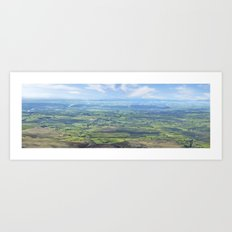 View from the Knockmealdown Mountains, Ireland Art Print