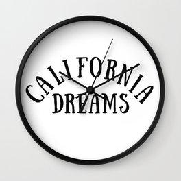 California Dreams Typography by Christie Olstad Wall Clock