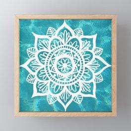 Water Mandala Framed Mini Art Print