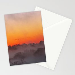 Sunrise with fog at an African river Stationery Cards
