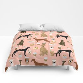 Greyhound coffee dog breed illustration dog art custom dog breeds groundhound rescue dog lovers Comforters