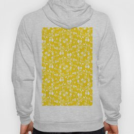 Gold Yellow Floral Pattern Hoody