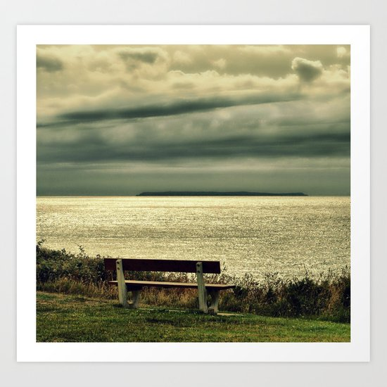 View to Lundy Art Print