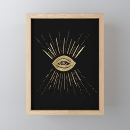 Evil Eye Gold on Black #1 #drawing #decor #art #society6 Framed Mini Art Print