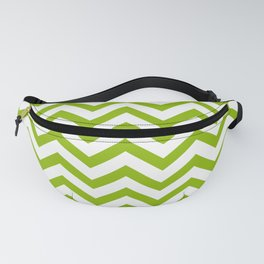 Simple Chevron Pattern - Apple Green & White - Mix & Match with Simplicity of Life Fanny Pack