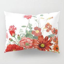 Vintage & Shabby Chic - Red Summer Flower Garden Pillow Sham