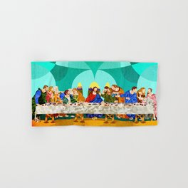 Curves - Last Supper Hand & Bath Towel