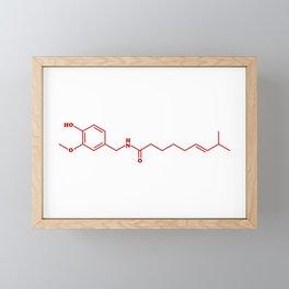 Chili Capsaicin Molecular Chemical Formula Framed Mini Art Print