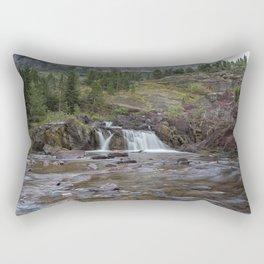 Redrock Falls - Glacier National Park Rectangular Pillow