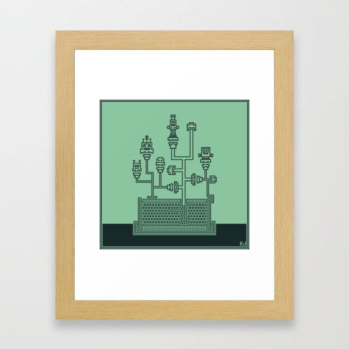 Planticular Robotic Framed Art Print