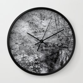 North Fork Silver Creek bw Wall Clock