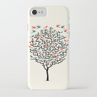 birds iPhone & iPod Cases featuring Out On a Lark by Oliver Lake