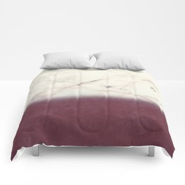 marble and purple Comforters