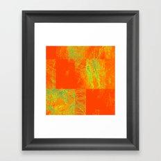 Orange yellow decoration Framed Art Print