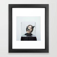 Butterfly in a box Framed Art Print
