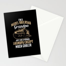 Model Building Railway Grandfather Stationery Cards