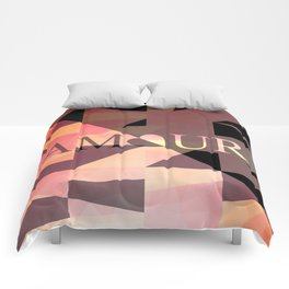Amour Love Heart Cubic Design Comforters