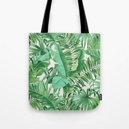 Green tropical leaves III Tote Bag