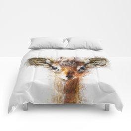 Dik Dik Antelope Watercolor Comforters