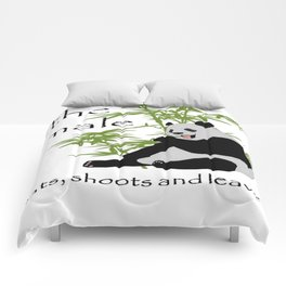 The Male Eats, Shoots and Leaves Comforters