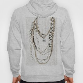 vintage white gold necklace Hoody